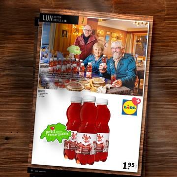 Das Etikett als Werbung im Prospekt | The label as advertising in the brochure
